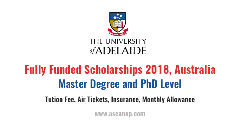 Master degree and Doctoral Research Scholarship in South Australia (Fully Funded)